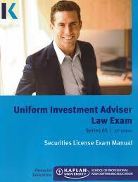 kaplan series 65 uniform investment adviser law exam securities
