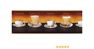 wallpaper borders coffee cups coffee mocha espresso latte cappuccino wallpaper border amazon com