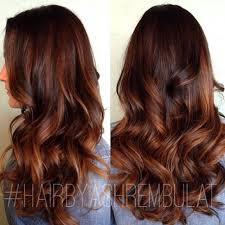 auburn highlights option maybe a slight ombre would be a good