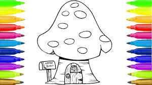 mushroom house coloring book learning coloring pages for kids