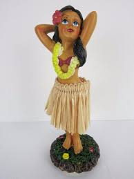 dashboard doll hula small pretty in pinup