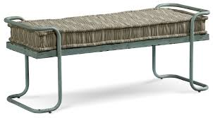 metal bench with cushion livingroom u0026 bathroom