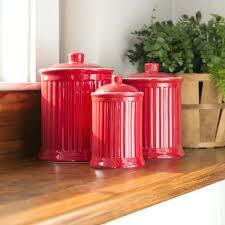 red kitchen canisters red kitchen canisters red barrel studio 3 piece kitchen canister set