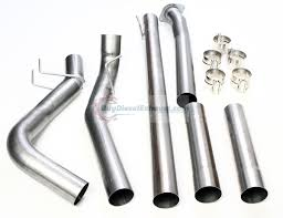 Ford Diesel Truck Exhaust Systems - downpipe back dpf delete dual exhaust 11 17 ford f250 f350 super