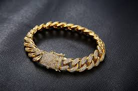 golden diamond bracelet images 12mm yellow gold finish cuban link lab diamond bracelet golden