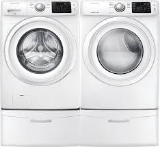 Frigidaire Laundry Pedestal Samsung Wf42h5000aw Front Load Washer U0026 Dv42h5000ew Electric Dryer