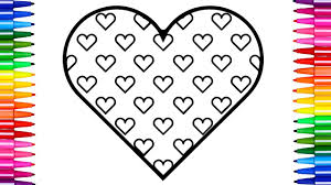 super coloring pages hearts how to draw and color heart fun kids