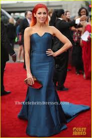Grammy Red Carpet 2014 Best by Bonnie Mckee Blue Strapless Mermaid Formal Dress Grammys 2014 Red