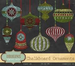 chalkboard ornaments illustrations creative market