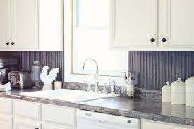 kitchen u shape kitchen decoration using silver metal backsplash
