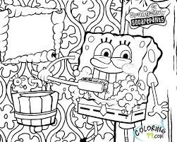 Spongebob Squarepants Coloring Pages Printable For Vonsurroquen Me Coloring Pages Sponge Bob