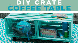 crate coffee tables diy crate coffee table video hgtv