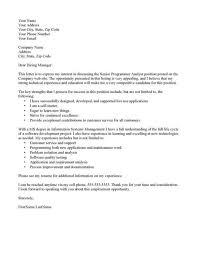 Sample Resume For Programmer by Cover Letter It Programmer