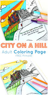city on a hill coloring page