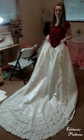 my wedding dresses how i sewed my wedding dress edelweiss patterns