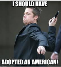 Brad Meme - brad pitt throwing phone memes imgflip