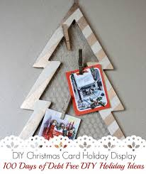 easy diy holiday christmas card display craft project