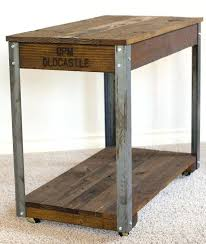 industrial coffee table with wheels industrial side table southwestobits com