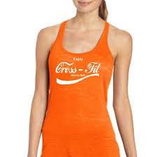 muscle up coca cola crossfit burnout tank top white print