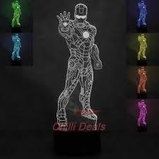 Iron Man Night Light Marvel Ironman Led 3d Hologram Night Light
