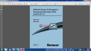 vermeer d36x50 series ii navigator service manual auto repair