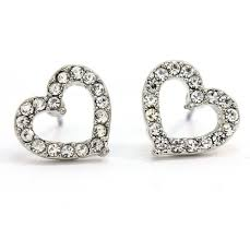 heart stud earrings cheap pave heart stud earrings find pave heart stud earrings