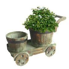 wood brown barrels pots u0026 planters the home depot