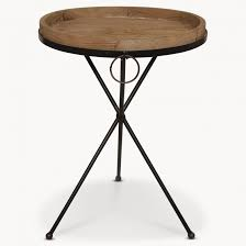 Wood Side Table Granville Metal And Wood Side Table One World