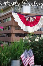 4th Of July Bunting Decorations Easy To Make Patriotic Bunting Patriotic Bunting Buntings And