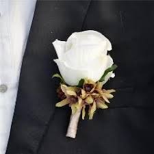 Boutonniere Prices 4 Pcs Lot Diy Calla Lilies Corsage Flowers White Rose For Grooms