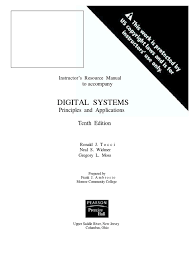 solution manual digital system tocci 10th edition pdf