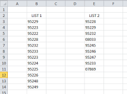 cdx technologies how to compare two lists of zip or postal codes