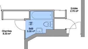 superficie minimum chambre plans salle de bains 3m 4m 5m 6m et plus côté maison