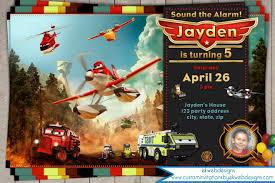 planes fire rescue invitation planes birthday invitation