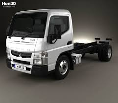 truck mitsubishi fuso mitsubishi fuso canter 515 superlow city cab chassis truck 2016 3d