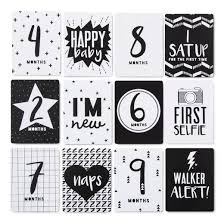 milestone cards 12pk 4 x6 cloud island black white target