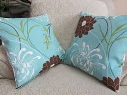 light blue pillows bring elegance to your sofa best decor things