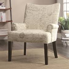 coaster furniture 902149 french script pattern accent chair in