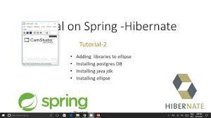 tutorial java spring hibernate spring and hibernate tutorial 2 downloading postgresql java jdk