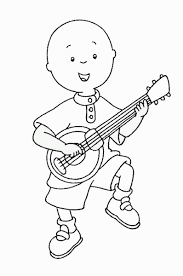 caillou outline coloring pages coloring pages
