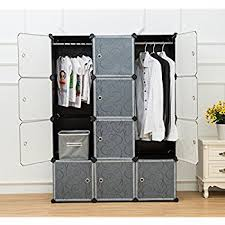 White Wardrobe Cabinet Amazon Com Tespo Portable Clothes Closet Wardrobe Freestanding