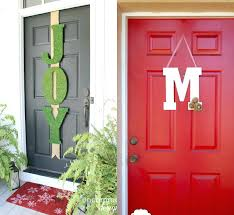 Door Decorations For Winter - plant pots cute orange pumpkin fall decoration idea modern wreath
