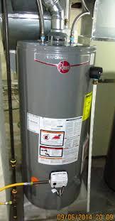 rheem gas water heater model xg40s09he38u0 review youtube