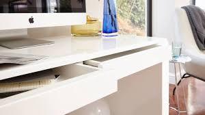 white high gloss desk modern white gloss desk 2 drawers office study bedroom