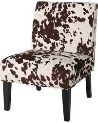 Cowhide Print Amazing Deal Saloon Fabric Cowhide Print Dining Chair Milk Cow