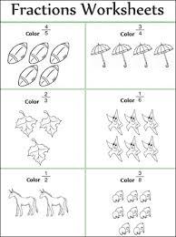 fraction worksheets for 1st grade worksheets