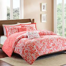 Ocean Bedspread Bedroom Salmon Colored Sheets With Coral Comforter Set