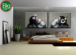 wall art designs large framed wall art hand painted gorilla wall
