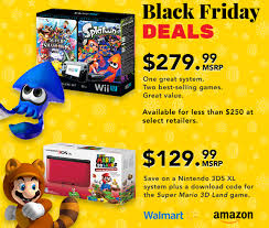 amazon black friday super smash bros nintendo highlights some wii u and nintendo 3ds xl black friday deals