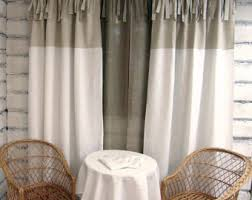 Tie Top White Curtains Linen Tie Top Etsy